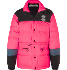 Colour Block Quilted Shell Down Jacket by Off White