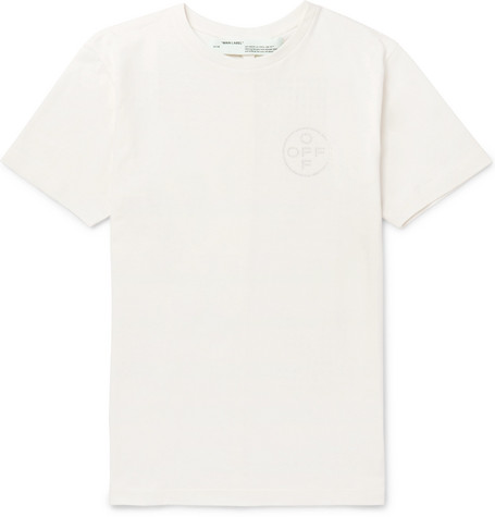 Embellished Cotton Jersey T Shirt by Off White