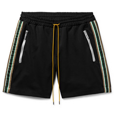 Rhude Webbing-Trimmed Stretch-Jersey Shorts
