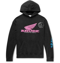 Rhude Oversized Logo-Print Cotton-Jersey Hoodie a224d3c7f2c7