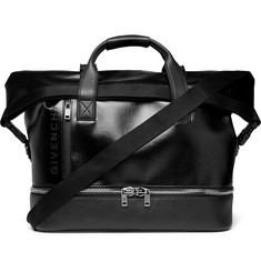 Givenchy - Jaw-Textured Coated-Canvas and Full-Grain Leather Holdall