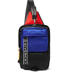 Givenchy UT3 Colour-Block Logo-Jacquard Leather-Trimmed Shell Backpack
