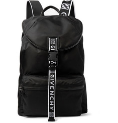 Givenchy Logo-Jacquard and Leather-Trimmed Nylon Backpack