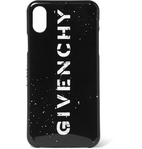Givenchy Logo-Print Rubber iPhone X Case