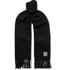 Givenchy - Logo-Appliquéd Wool and Cashmere-Blend Scarf
