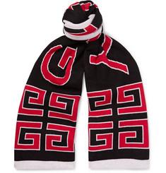 Givenchy - Logo-Jacquard Double-Faced Cotton Scarf
