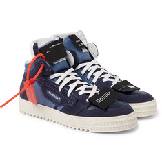 Off-White - 3.0 Off-Court Suede, Leather and Canvas High-Top Sneakers