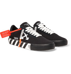 Off-White Printed Low-Top Canvas Sneakers