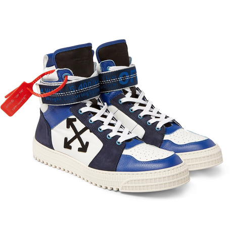 44ee065d4 Off-WhiteIndustrial Panelled Ripstop, Suede and Leather High-Top Sneakers