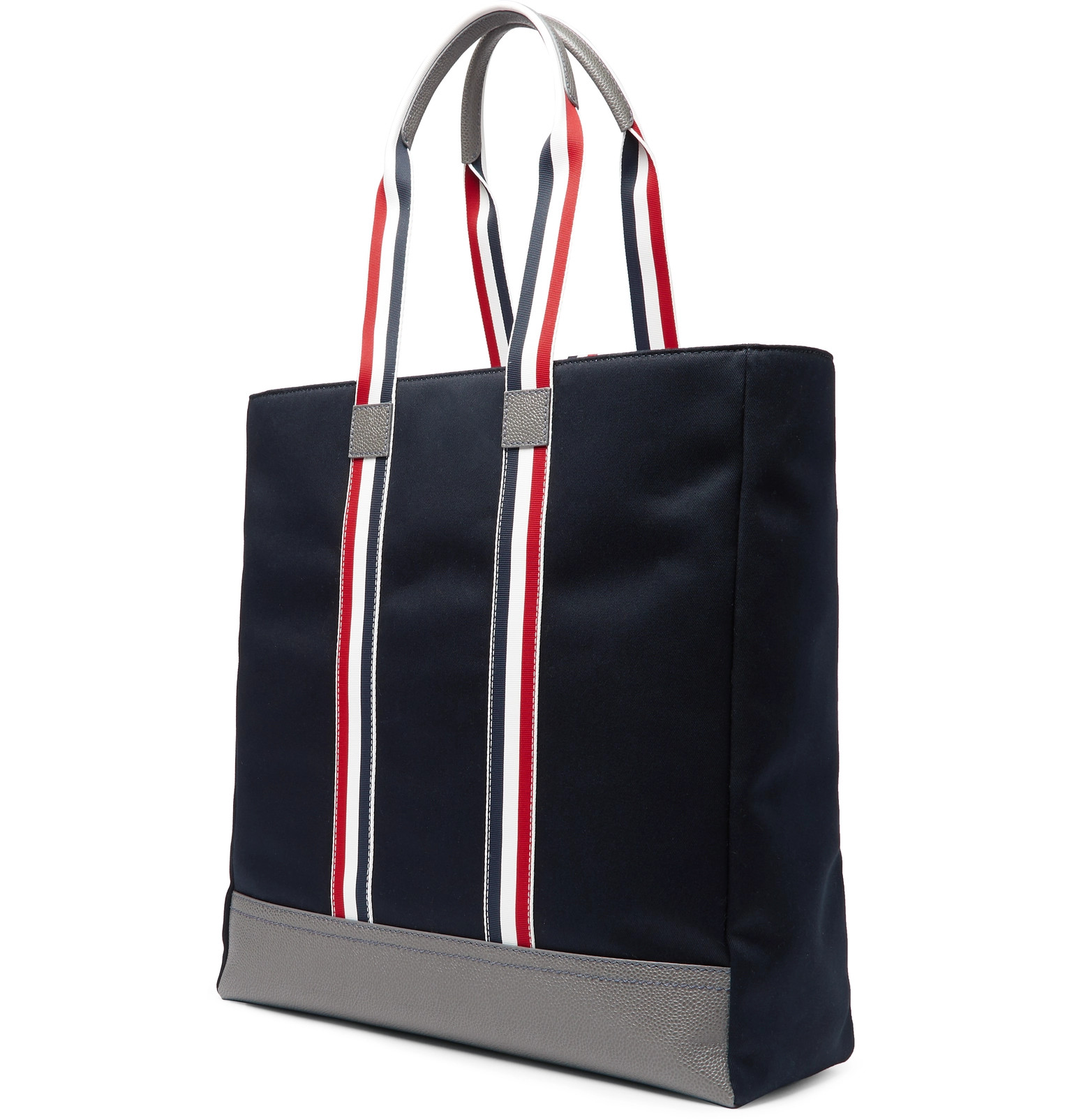 9a8d53f1b296 Thom Browne - Leather-Trimmed Canvas Tote Bag