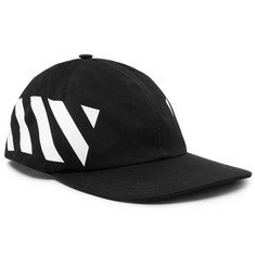 Off-White Striped Cotton-Canvas Cap