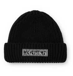 Off-White Logo-Appliquéd Ribbed Wool Beanie