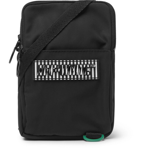 Off-White Logo-Appliquéd Canvas Camera Bag