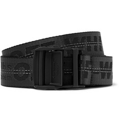 Off-White - 3.5cm Black Industrial Logo-Jacquard Webbing Belt