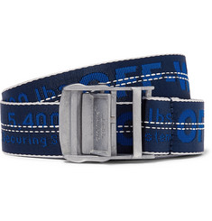 Off-White - 3.5cm Blue Industrial Canvas Belt