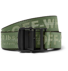 Off-White - 3.5cm Green Industrial Webbing Belt