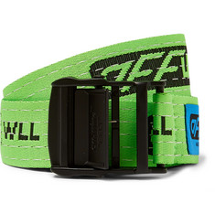 Off-White 3.5cm Green Industrial Webbing Belt