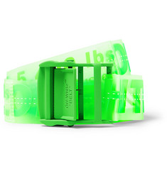 Off-White - 4.5cm Neon-Green Industrial PVC Belt