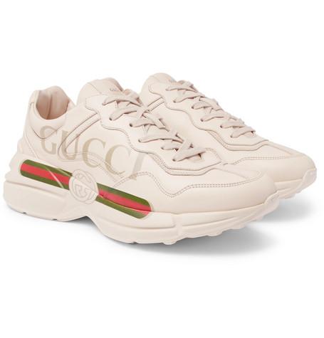 Rhyton Logo-print Leather Sneakers