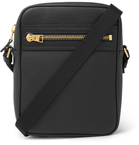North South Full Grain Leather Messenger Bag by Tom Ford