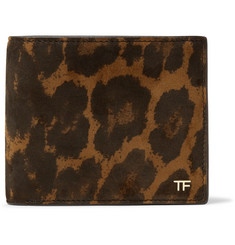 TOM FORD - Leopard-Print Nubuck Billfold Wallet