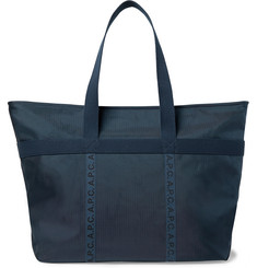 A.P.C. Logo-Print Twill-Trimmed Ripstop Tote Bag
