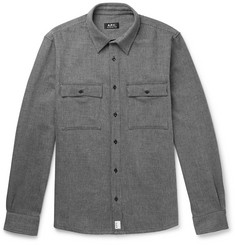A.P.C. Enrico Striped Cotton-Drill Overshirt