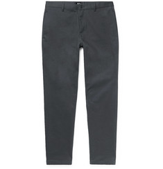 A.P.C. Grey Pat Cotton-Blend Gabardine Chinos