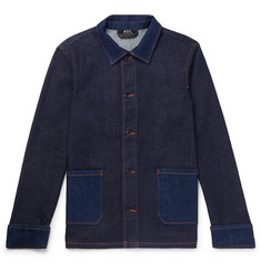 a09ac74eed6 A.P.C. - Cotton-Blend Denim Chore Jacket