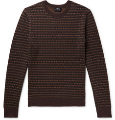 A.P.C. Slim-Fit Striped Merino Wool-Jacquard Sweater