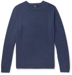 아페쎄 옴므 멜란지 캐시미어 스웨터 - 인디고 A.P.C. Melange Cashmere Sweater,Indigo