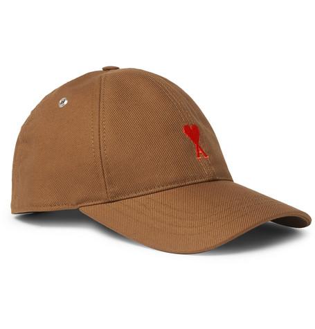 AMI – Logo-embroidered Cotton-twill Baseball Cap – Brown