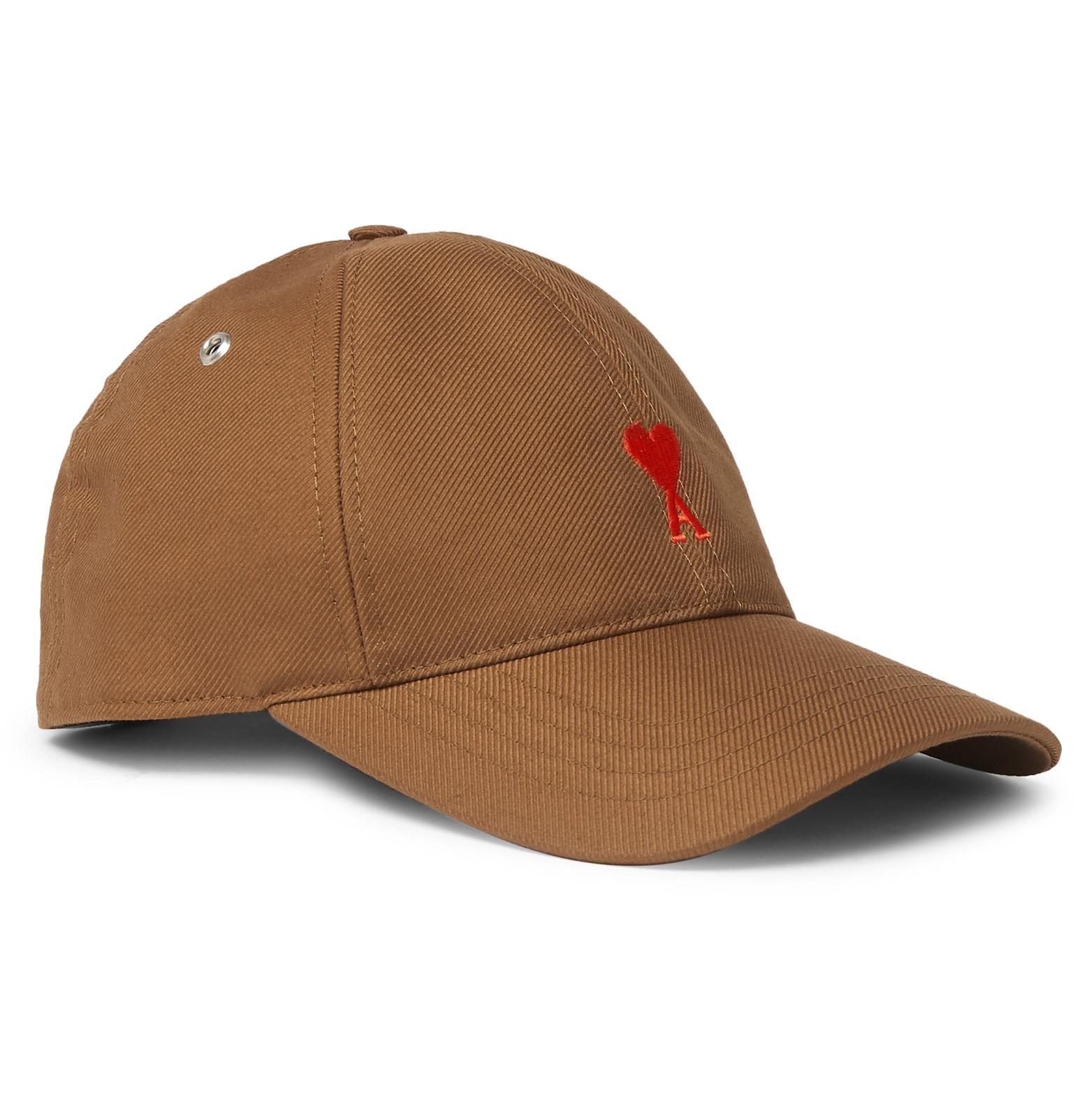 AMI - Logo-Embroidered Cotton-Twill Baseball Cap 3db9b30ef59