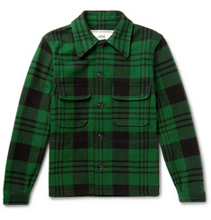 AMI Checked Wool-Blend Jacket