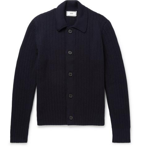 08d6a40f8ad AMI - Merino Wool Cardigan