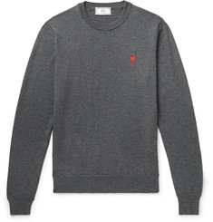 AMI Logo-Embroidered Wool Sweater