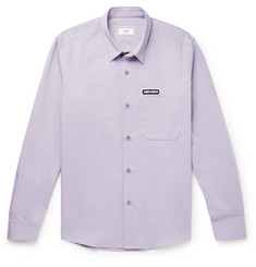 AMI Logo-Appliquéd Cotton-Twill Shirt