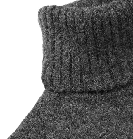 Baby Alpaca Blend Rollneck Sweater by Ami