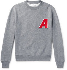 AMI Logo-Appliquéd Fleece-Back Cotton-Jersey Sweatshirt