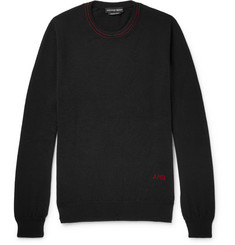 Alexander McQueen Logo-Embroidered Cashmere Sweater