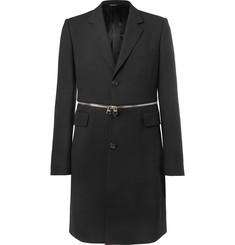 Alexander McQueen Slim-Fit Zip-Trimmed Wool-Blend Coat
