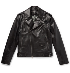 Alexander McQueen Convertible Leather Biker Jacket