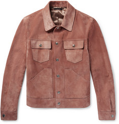TOM FORD - Slim-Fit Suede Trucker Jacket