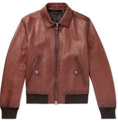 TOM FORD Slim-Fit Leather Bomber Jacket