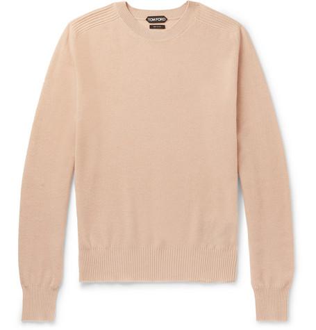 Tom Waffle Sweater Cashmere Ford Knit Neutral wwF18Tqrx