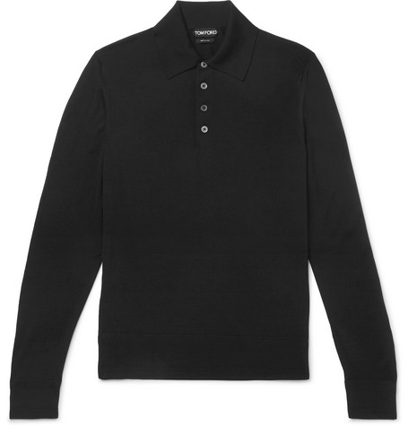 a93ec87a TOM FORD - Slim-Fit Merino Wool Polo Shirt