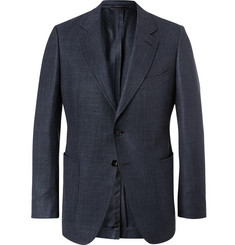 TOM FORD Midnight-Blue O'Connor Slim-Fit Wool, Linen and Silk-Blend Blazer