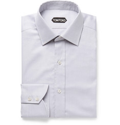 TOM FORD - Light-Blue Slim-Fit Cotton-Twill Shirt