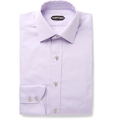 TOM FORD - Lilac Slim-Fit Cotton-Poplin Shirt
