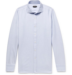 TOM FORD Cutaway-Collar Cotton Oxford Shirt